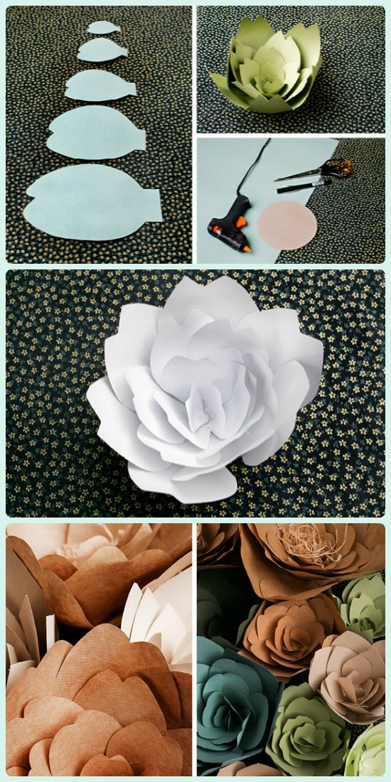 Manualidades casa hogar decoracion flores papel gigantes tutorial ideas flores de papel - Manualidades hogar decoracion ...