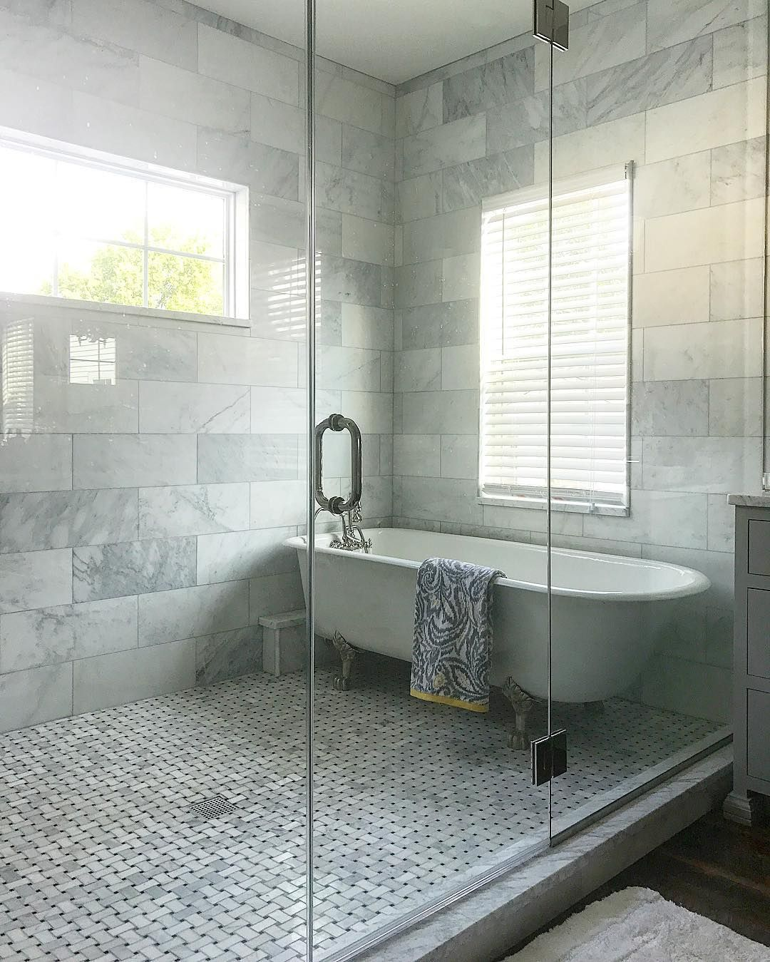 Ashley On Instagram There Was A Time That We Considered Finishing Our Master Bath With No Tub 1 I Was Told This Tub Was Too Far Gon Master Bath Tub Bath