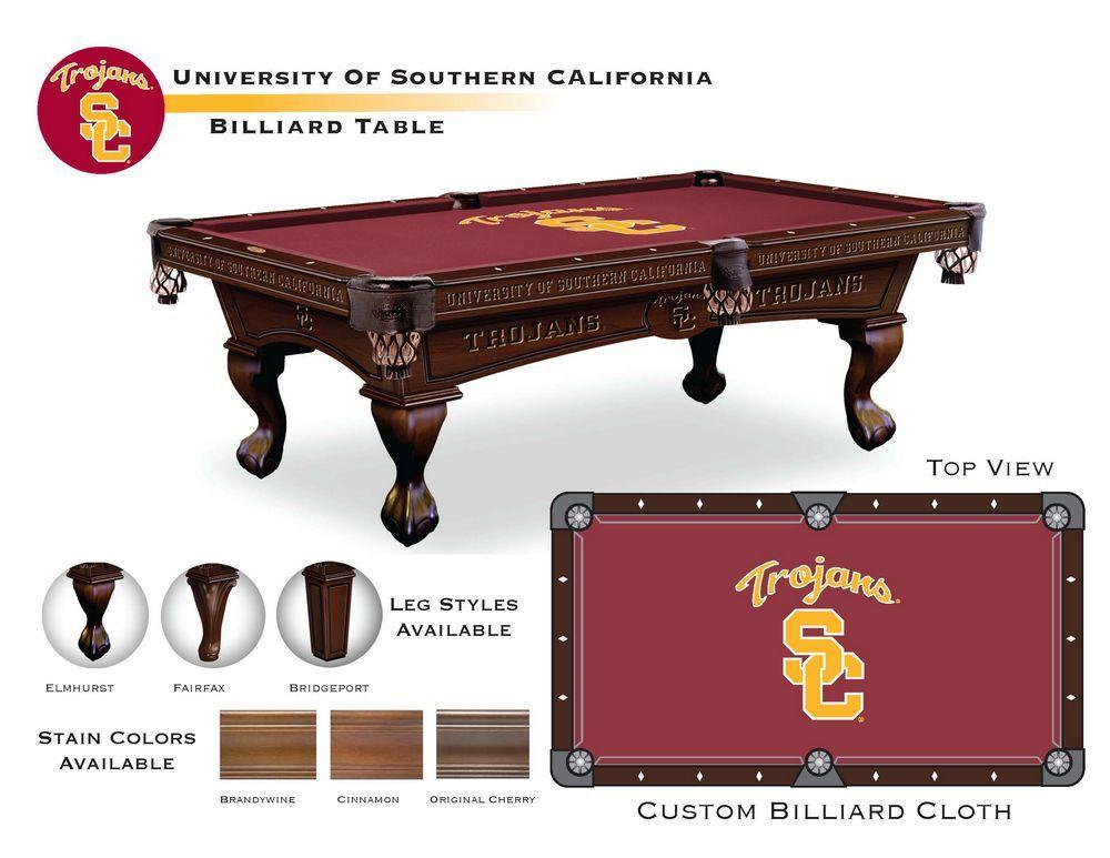 Califorina Trojans 8 Pool Table With Finish Options Southern California Efamilyfun