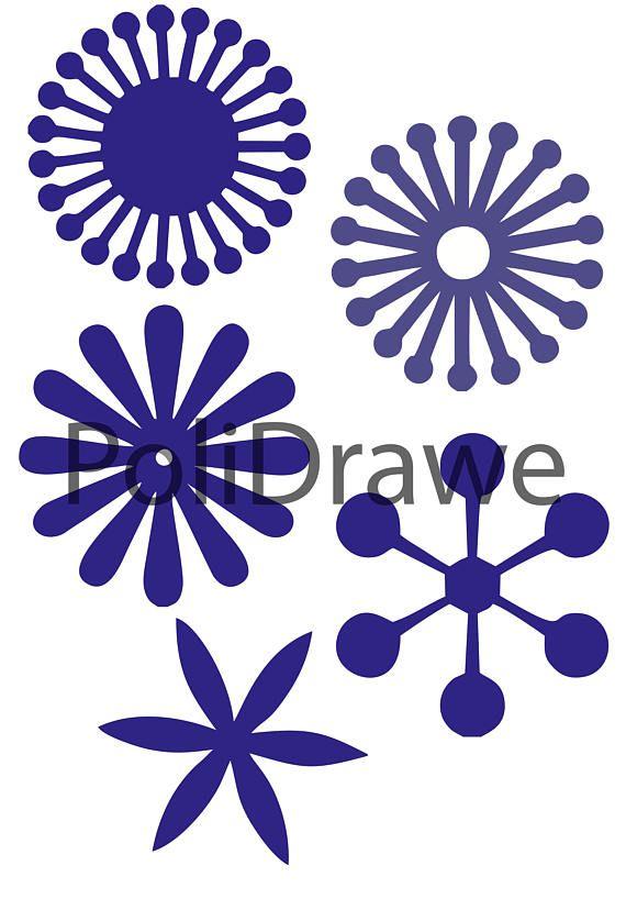 Paper Flower Centre Svgdigital Paper Printable Quilling Paper