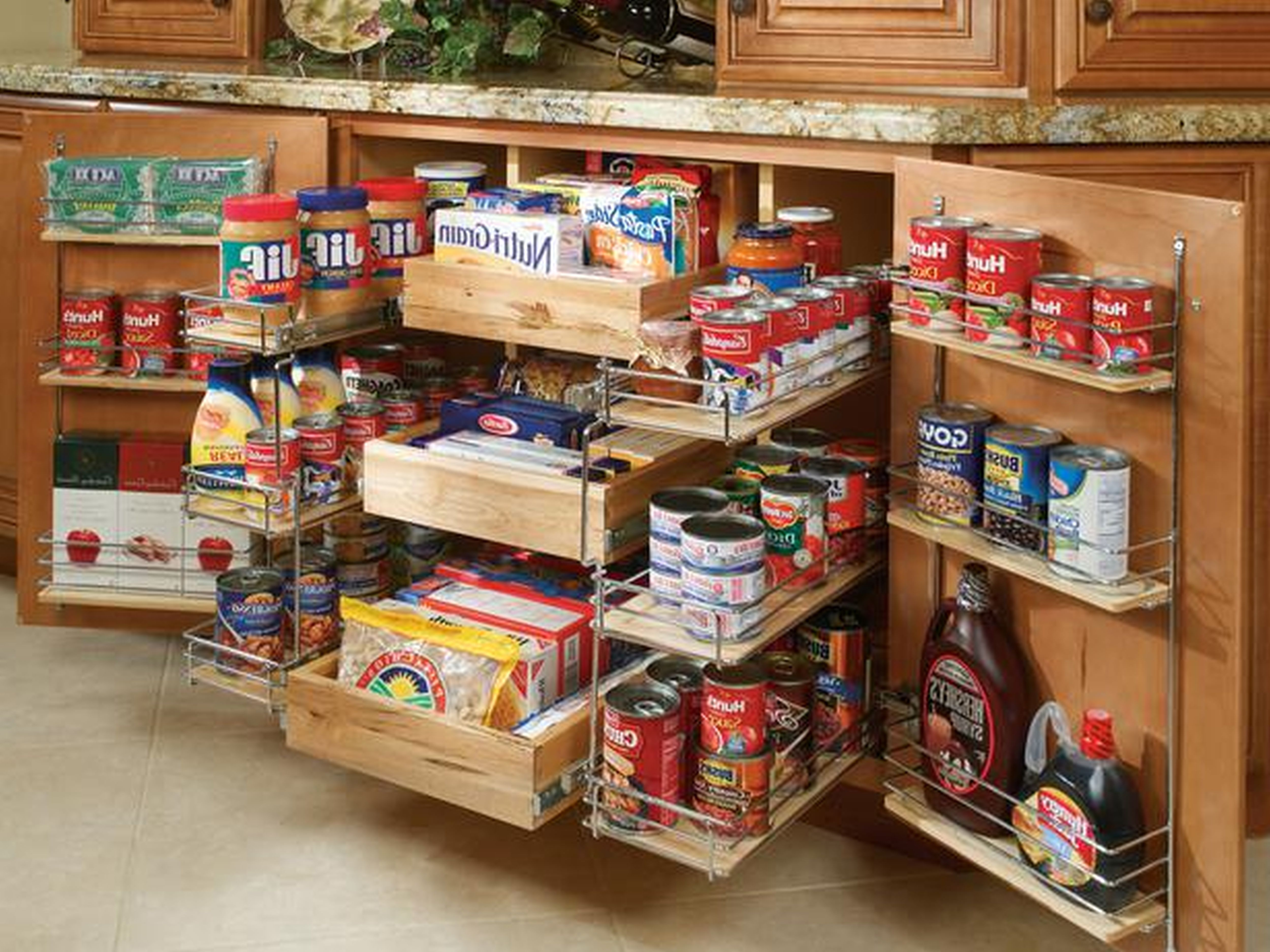 pantry shelves creative ideas for more inspiring pantry storage. Kitchen Storage Ideas Decorations Charming Wooden Feat Stainless Steel Drawers Spice Rack With Pull Out Pantry Shelves Creative For More Inspiring O