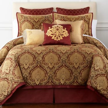 Royal Velvet® Jarvis 4-pc. Jacquard Comforter Set & Accessories ...
