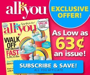 All You Magazine Subscription Only $0.63 per Issue! Ends Tonight!