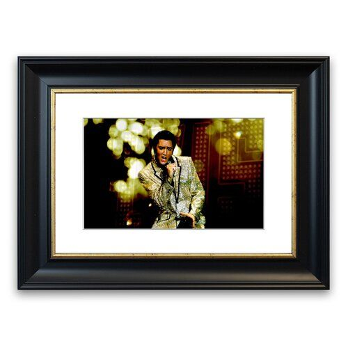 Elvis Presley 68 Special' gerahmter Fotodruck East Urban Home Größe 93 cm Höhe x 70 cm Breite, Rahmenoptionen Mattschwarz Gallery