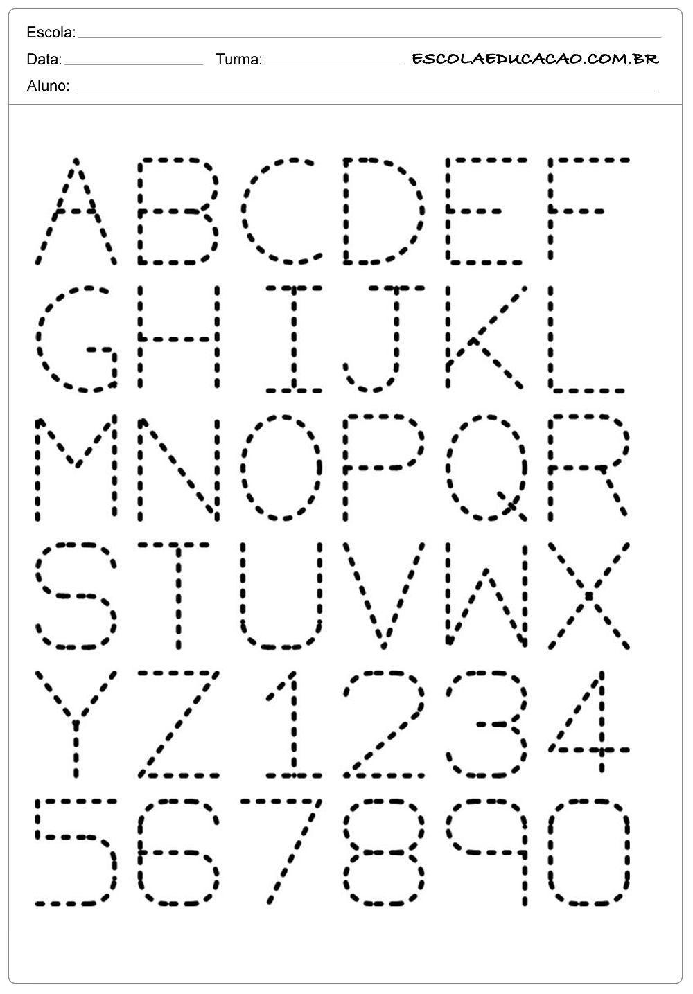 Alfabeto Pontilhado Atividades Com O Alfabeto Atividade