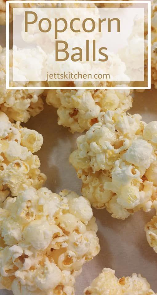 Old-Fashioned Popcorn Balls For All Ages - Jett's Kitchen #popcornballs