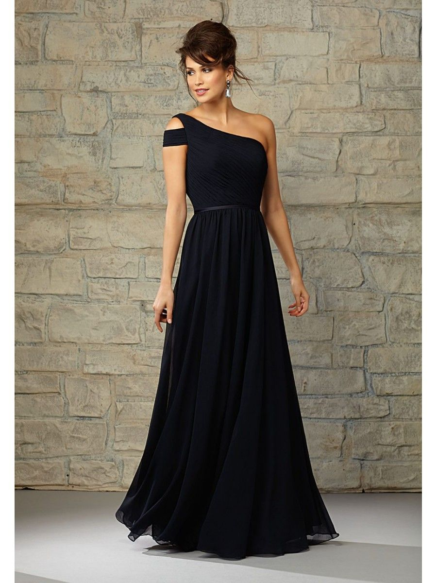 14556c245be Long Chiffon One-Shoulder Bridesmaid Dresses 5602101   Gowns.... in ...