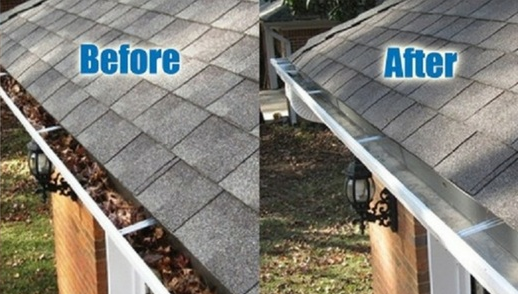 Are You In Need Of Gutter Cleaning Look At The Picture And How Your Clogged Gutters Will Look After Cleaning By Prof Cleaning Gutters Gutters Home Maintenance
