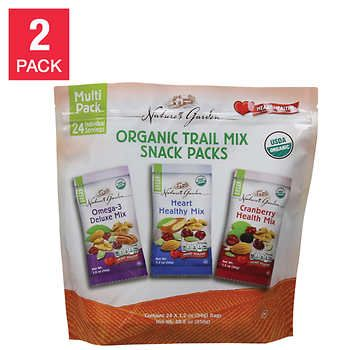 Natures Garden Organic Trail Mix 24-count, 2-pack