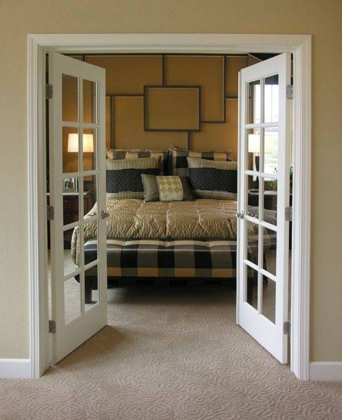 bedroom with interior french doors privacy - Google Search ...