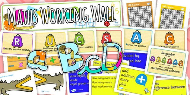 Maths Working Wall Display Pack - maths, working wall, pack ...