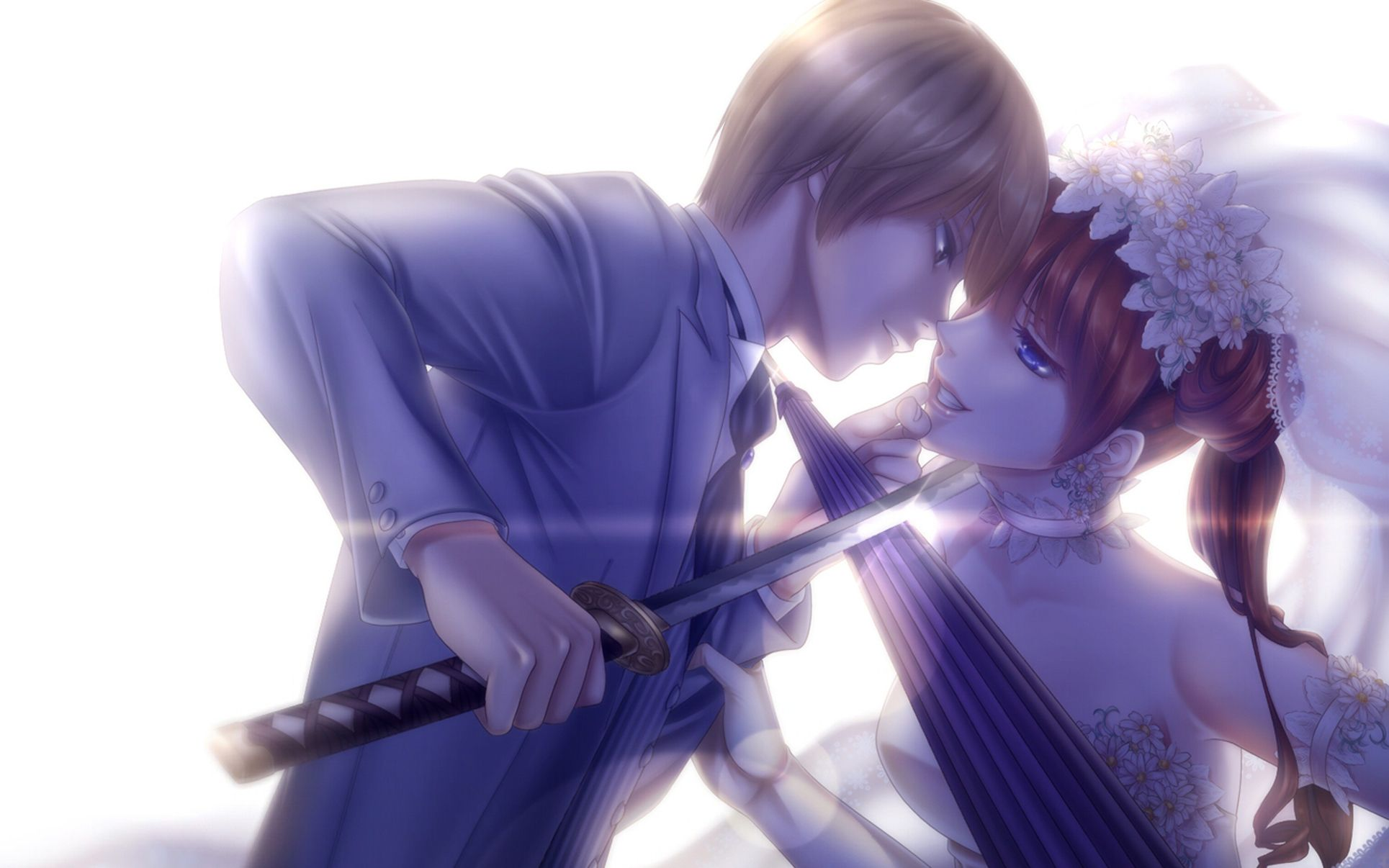 bride-and-groom-anime-couple-love-swords-art-roman-art-hd