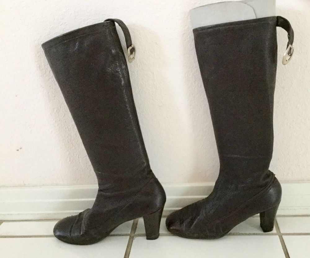 abf72074935 Vintage Womens Ladies Brown Calf High Boots Long Length High Heels Shoe  Size 8  fashion  clothing  shoes  accessories  womensshoes  boots (ebay  link)