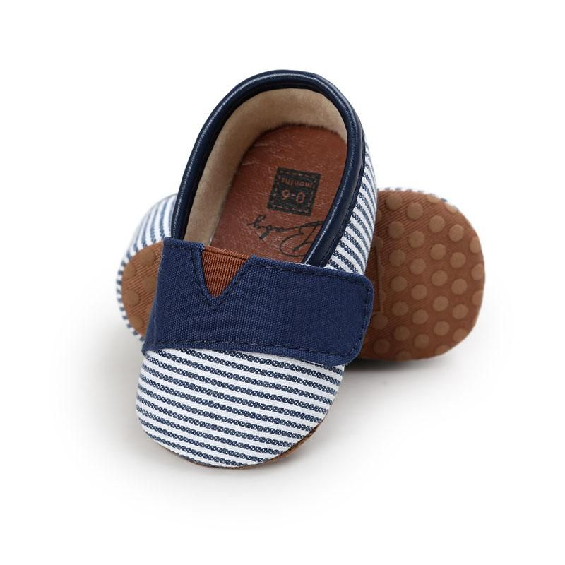 New 4Colors Canvas Fashion Striped Infant Toddler Boys Girls Kids First  Walkers Newborn Baby Moccasins Soft Sole Baby Shoes. Yesterday s price  US   4.44 ... 50bffbbb2894
