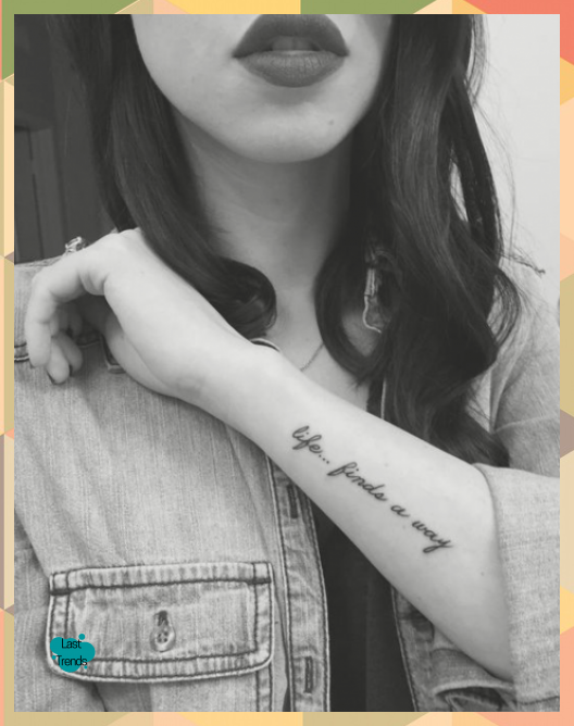 Frase: Life finds a way – Tatuajes para Mujeres | Kelly Blog #finds #Frase #Life…
