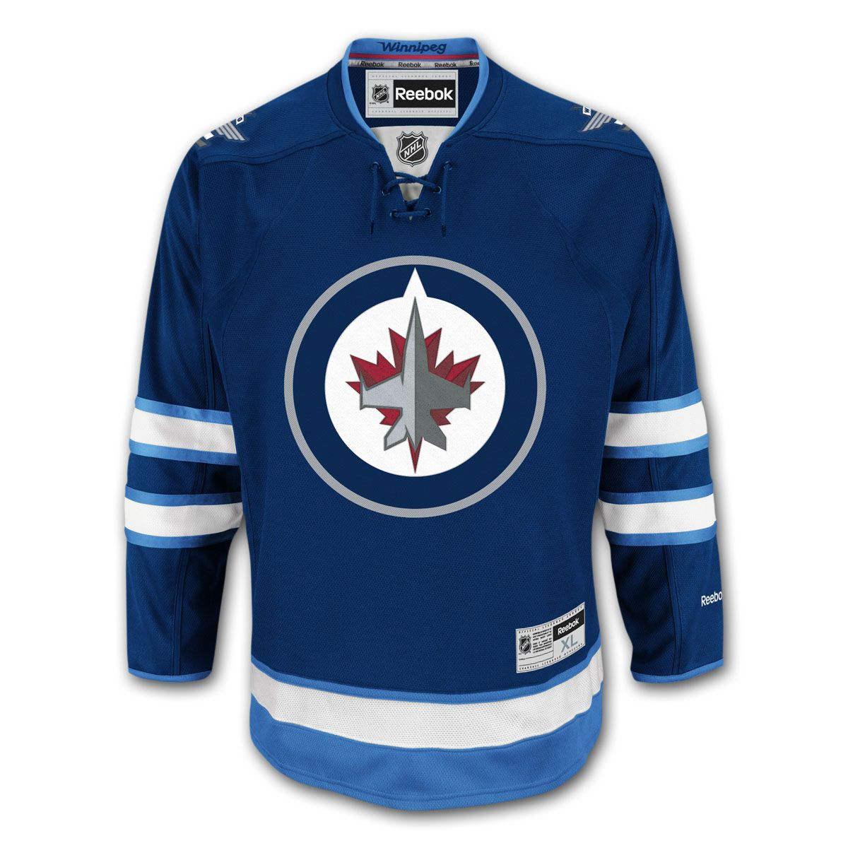 414a8c84e Winnipeg Jets Reebok Premier Replica Home NHL Hockey Jersey