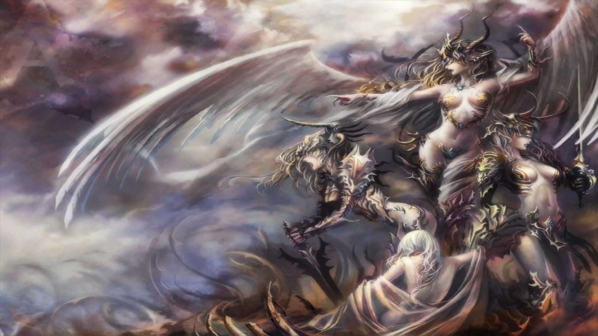 Warrior angel art warrior fantasy angel hintergrund x id - Fantasy wallpaper dark ...
