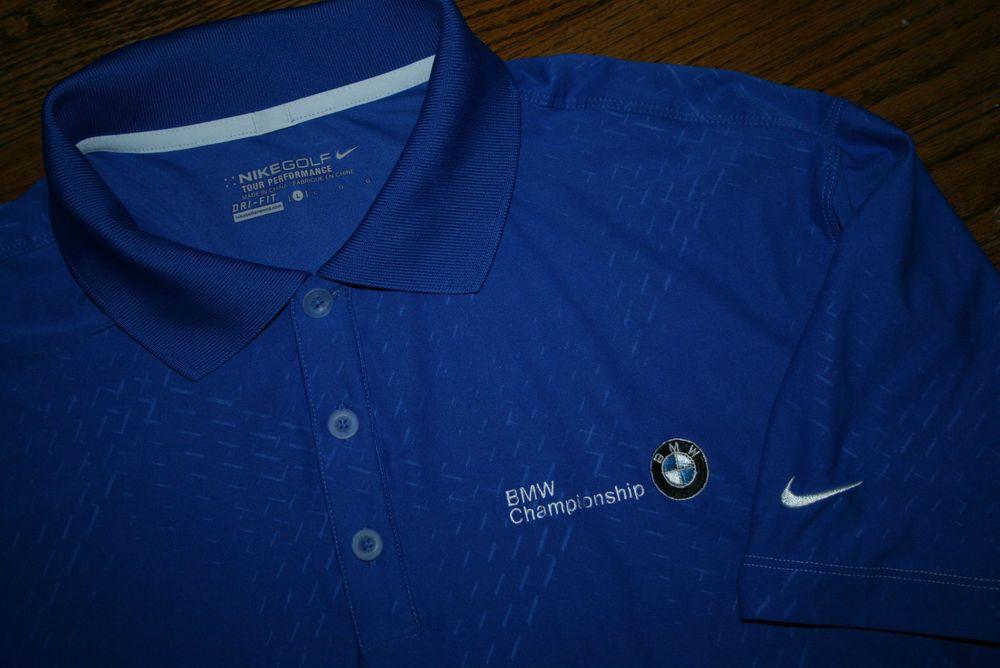 67644f947 New Nike Golf Tour Performance Dri-Fit BMW Championship Polo Shirt-Mens L-