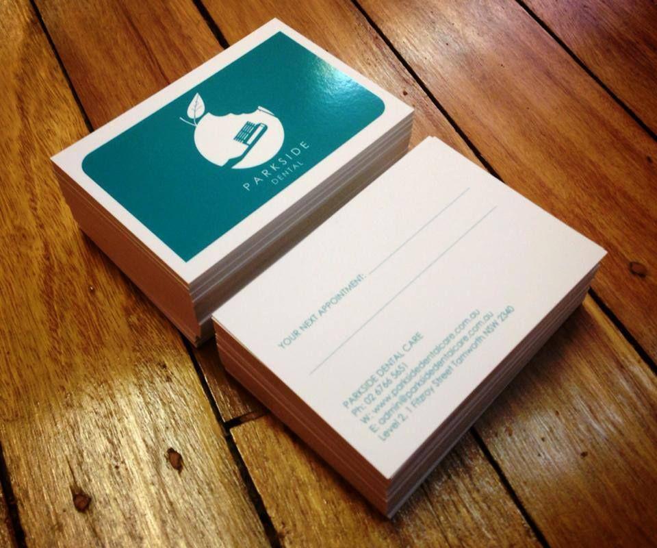 PARKSIDE DENTAL Business Card Design with SPOT UV - wwwleonnee