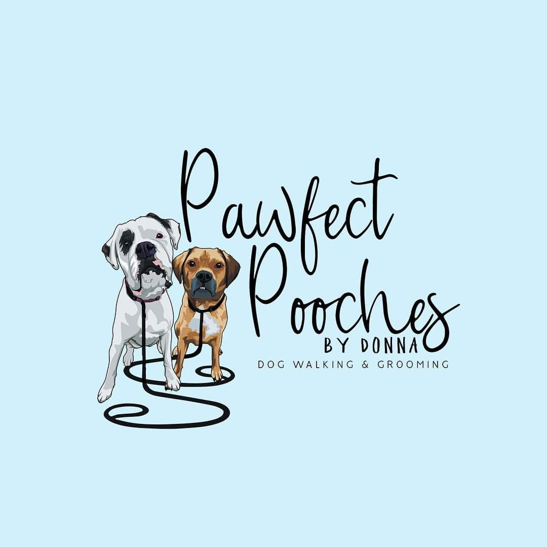 Logo Design For Pawfect Pooches Featuring Her Own 2 Doggy S Are You Looking For A Logo For Your N Dog Walking Logo Dog Walking Business Funny Puppy Pictures