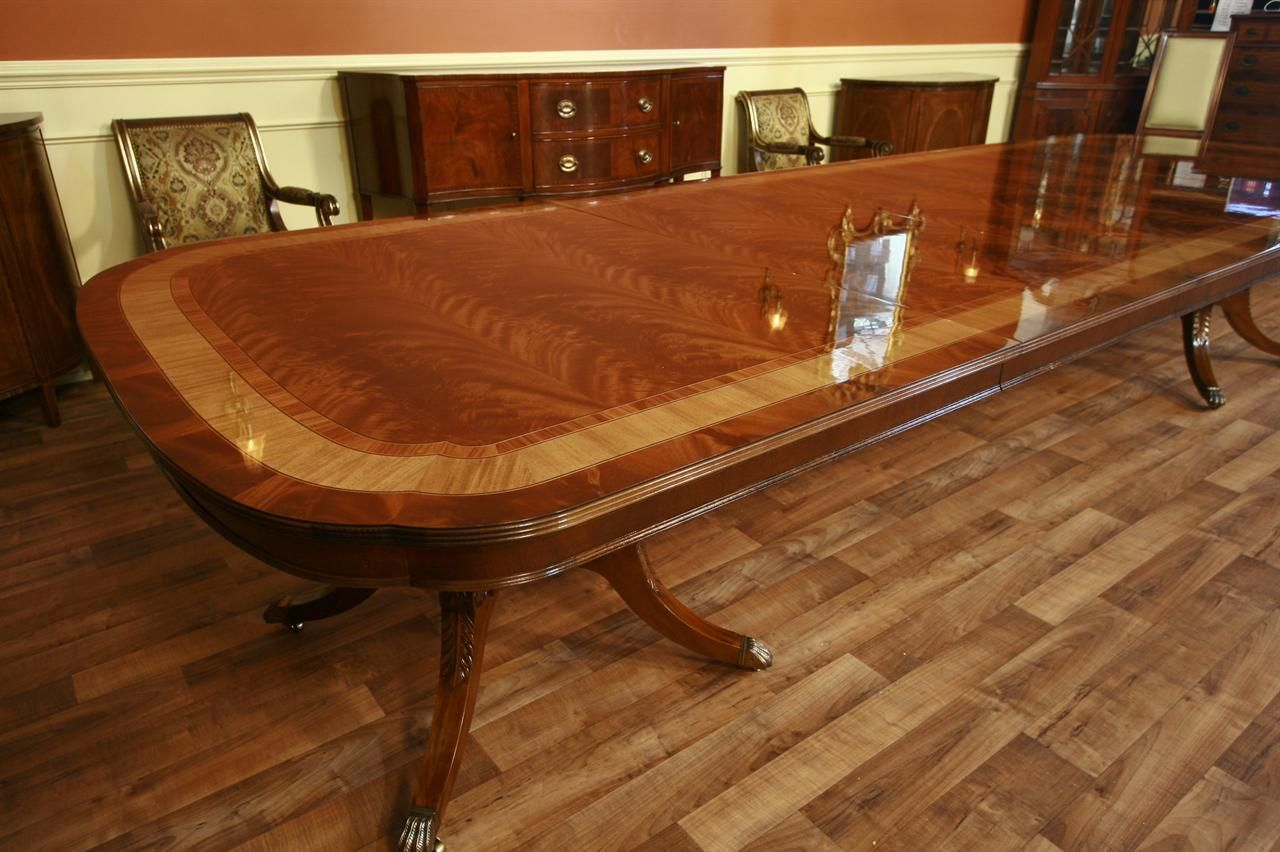 Extra Large Dining Table Long With 3 Leaves
