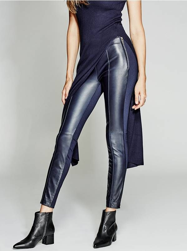 5fb0cc9da6a9d 64G1217079Z Leather Trousers, Leather Leggings, Leggings Are Not Pants, Dark  Look, Guess
