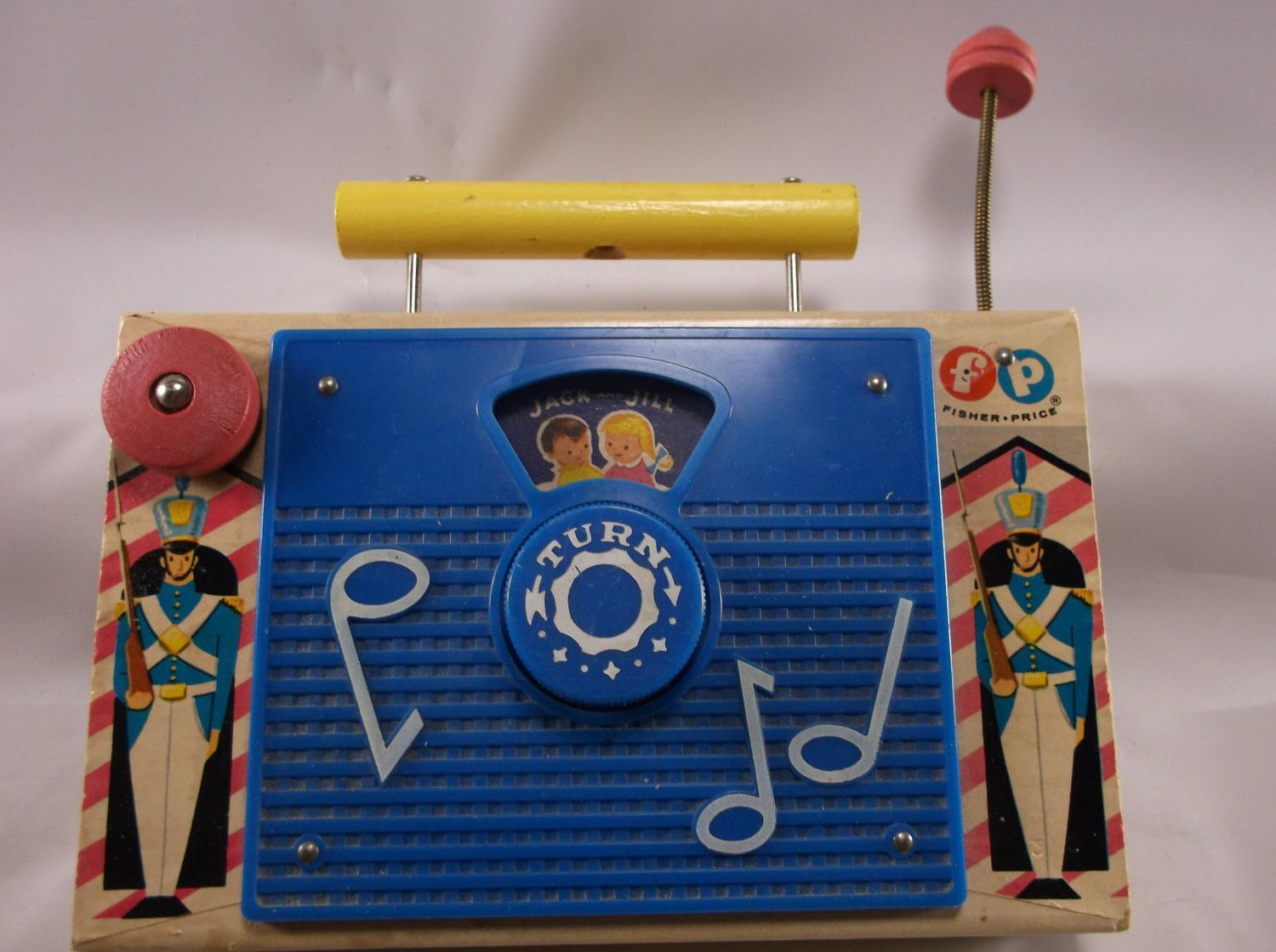 1960 toys images  Vintage Old Toy Jack And Jill TV Radio  Fisher Price