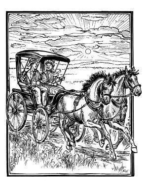 More beautiful Little House on the Prairie inspired coloring sheets