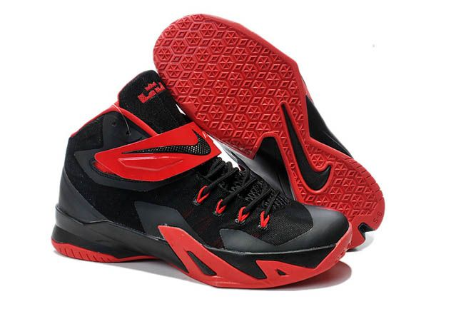 competitive price 3293c e9d82 Nike Brand University Red Hyper Crimson and Black Color Mens Zoom LeBron  Soldier 8 Shoes for Sale