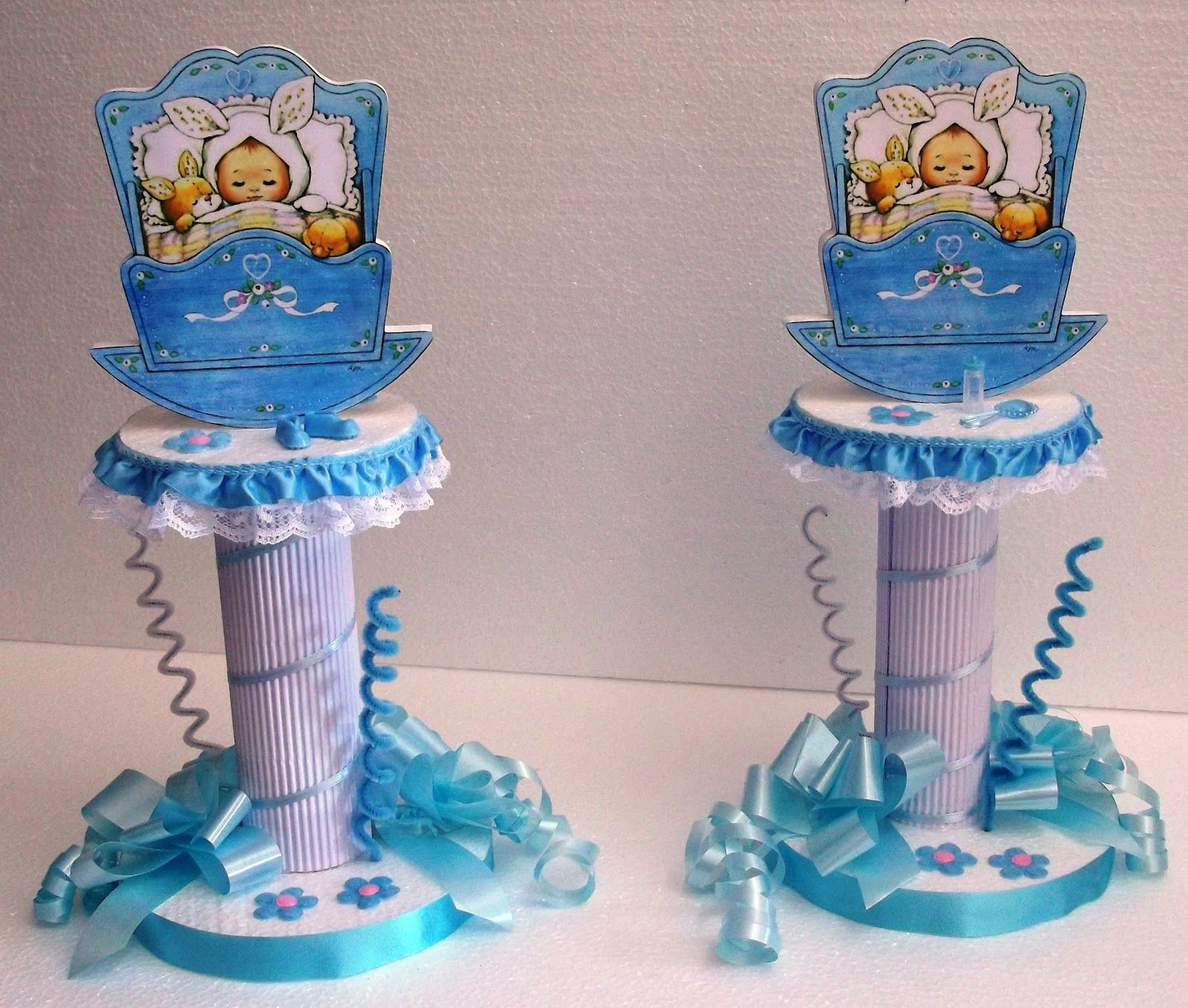Eventos para tu beb centro de mesa para baby shower o for Mesa baby shower nino