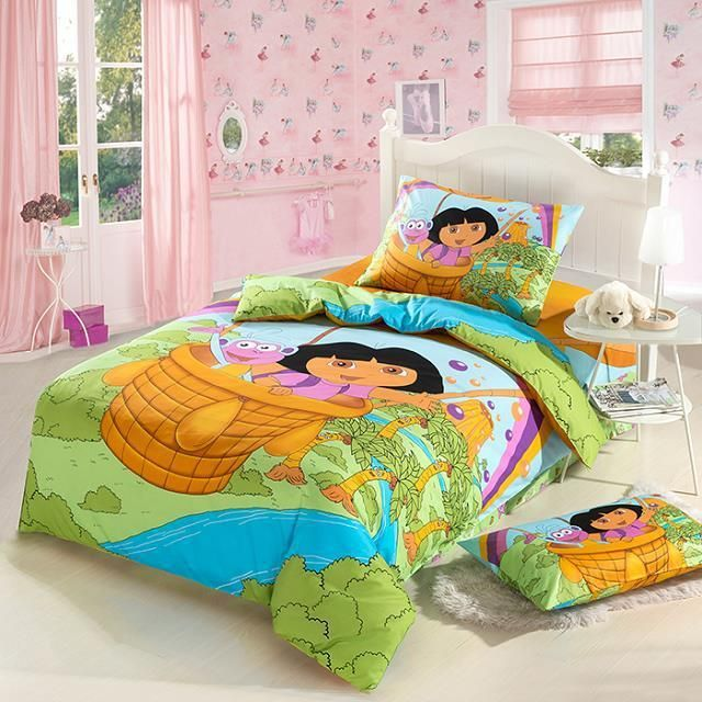 Dora Bedding Sets S Twin Full Size Kids Quilt Set 100 Cotton Cartoon Duvet Cover Bed Sheets Price 41 44 Free Shipping Hashtag3