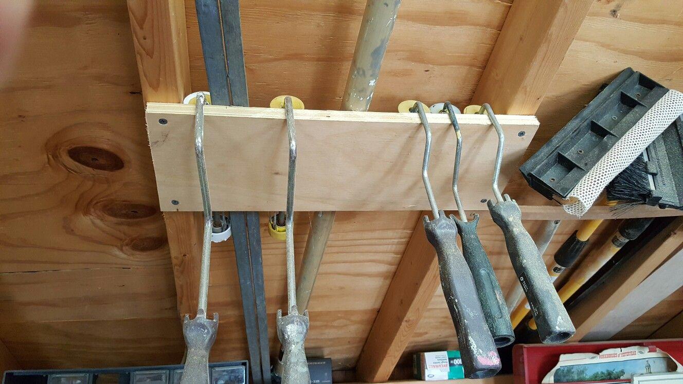 paint roller storage | shed in 2019 | garage workshop