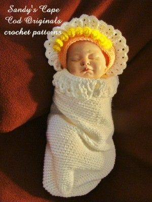 Angel Cocoon and Halo hat Crochet Pattern PDF 404 | Pinterest