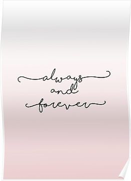 'Always and Forever - TVD/TO' Poster by alexandra89