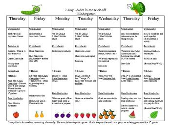 leader in me 7 habits introduction 7 day schedule lori mccarty