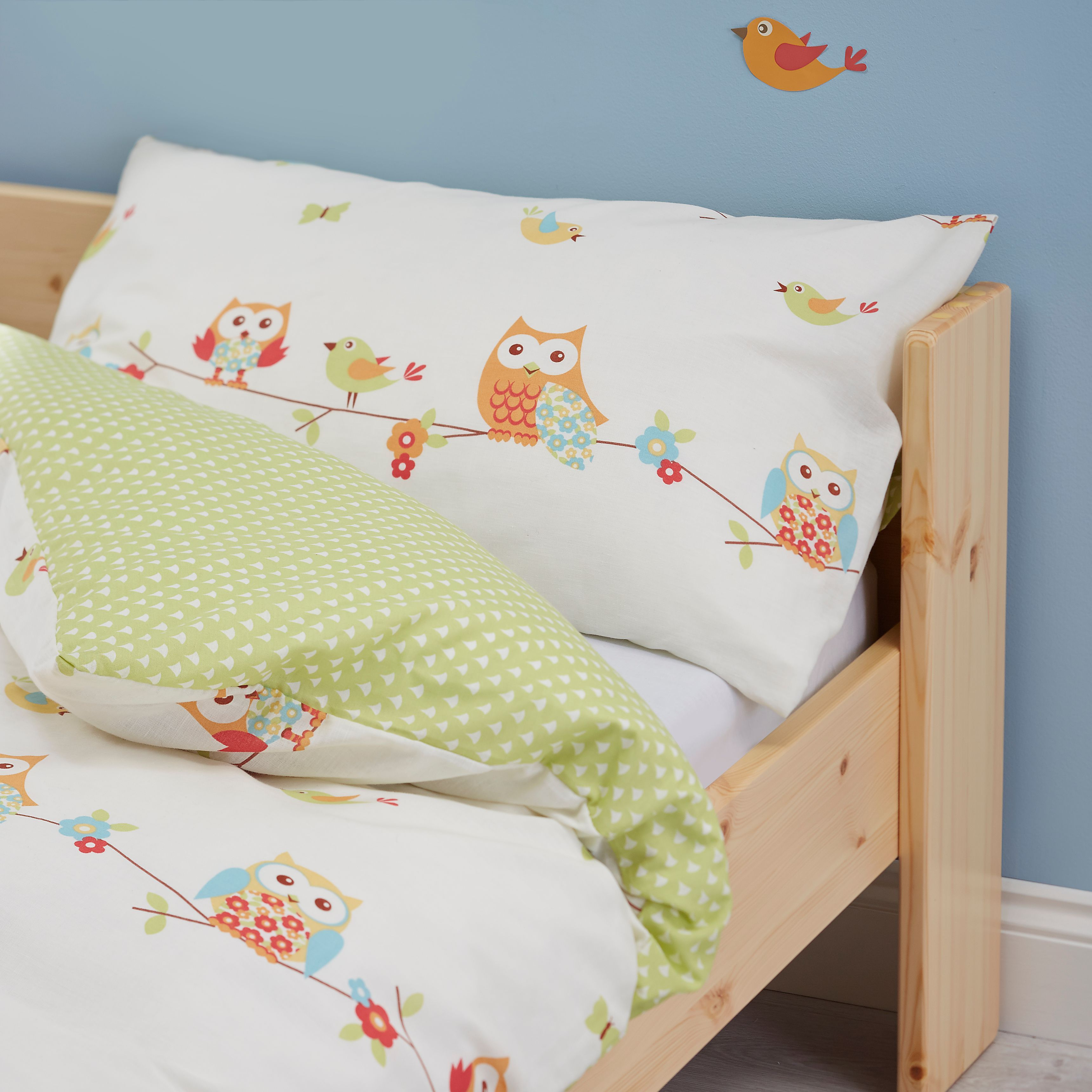 Colours Owl Junior Cot Duvet Set Departments Diy At B Q