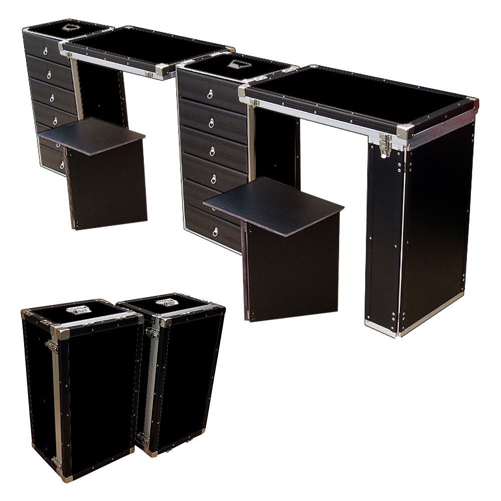 Portable 12 Drawer Dual Nail Tables Convert From 2 Small