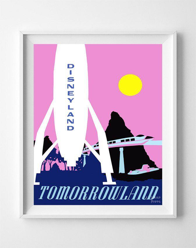 Disneyland Rocket Print