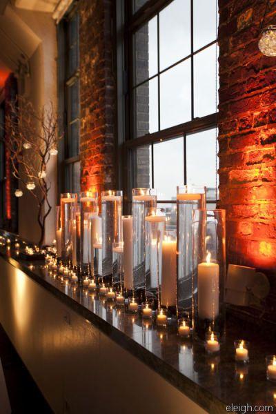 I)ch liebe Kerzen - je mehr desto besser! Heizung aus! Kerzen an! Style Me Pretty   GALLERY & INSPIRATION