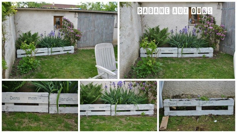 construction en palettes jardini re et d co de jardin potager pinterest gardens. Black Bedroom Furniture Sets. Home Design Ideas