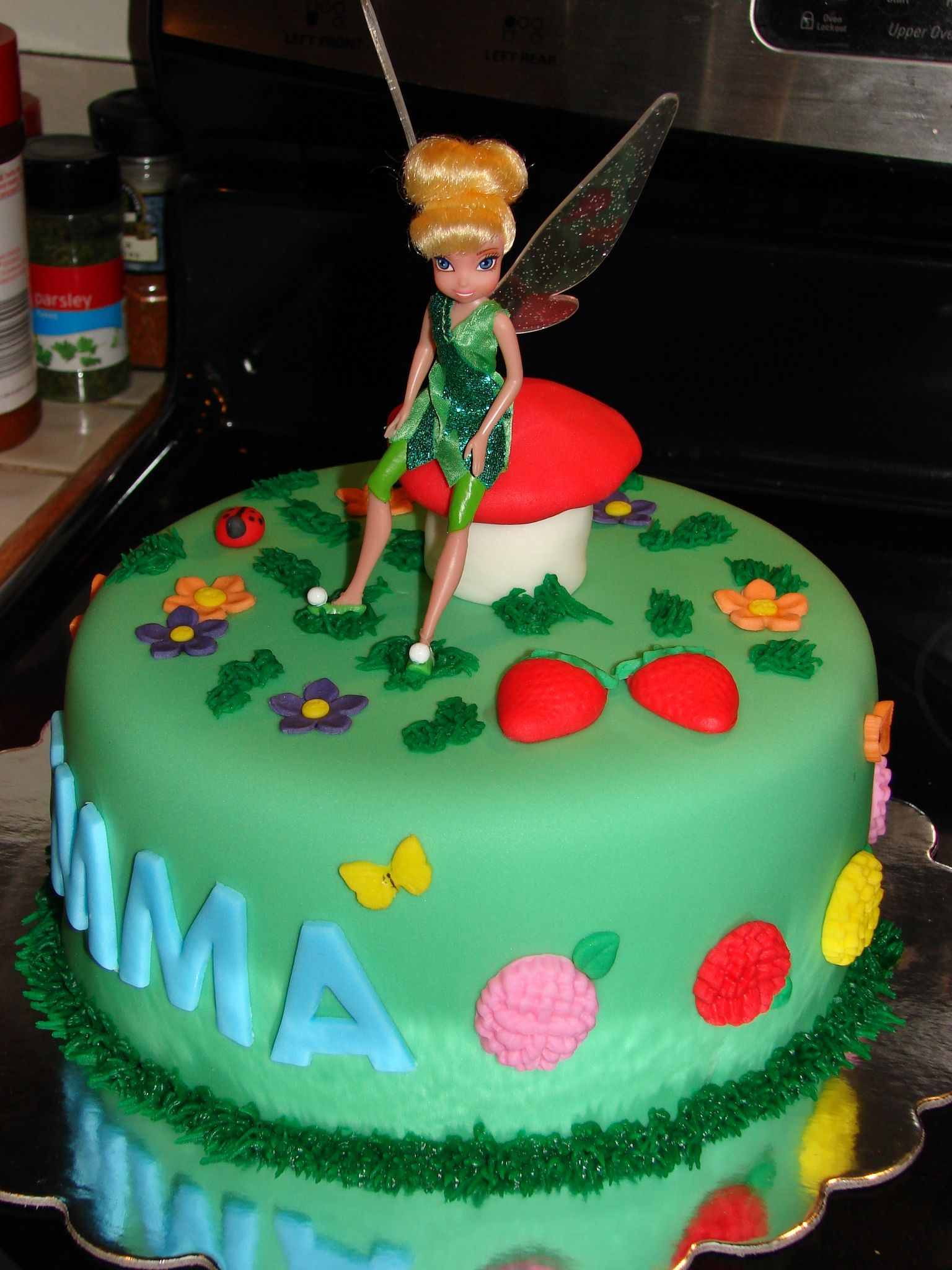 Tinkerbell Birthday Cake Cake Made For A Little Girl In A Local