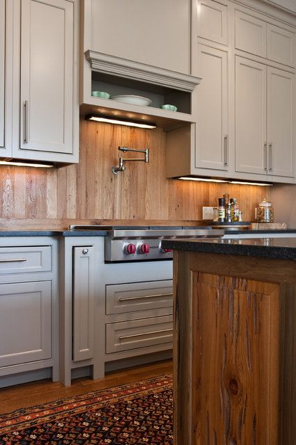 Natural Brown Wood Kitchen Backsplash With Traditional Kitchen White Woodenu2026
