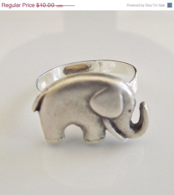 On Sale Elephant Ring Good Luck Symbol Best Friend Gift Whimsical