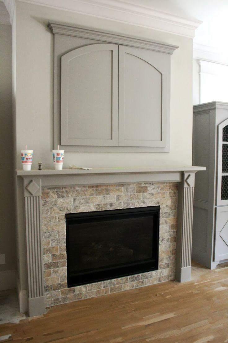 Wall Mounted Tv Cabinet Over Fireplace
