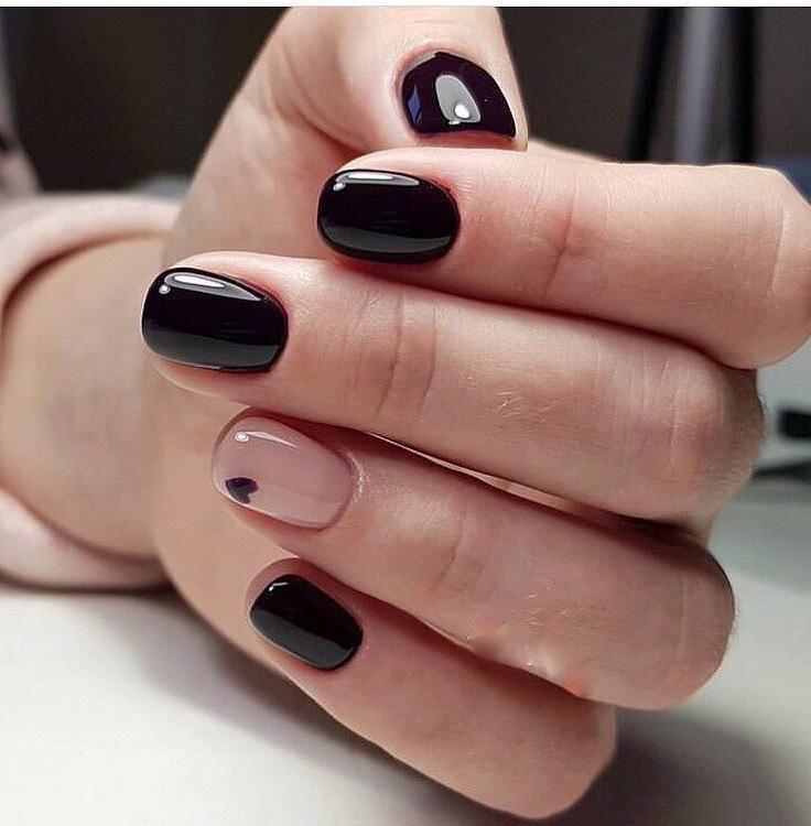 Pin By Rakhat Atchibaeva On Unghii In 2020 Black Nail Designs Square Nail Designs Short Square Nails