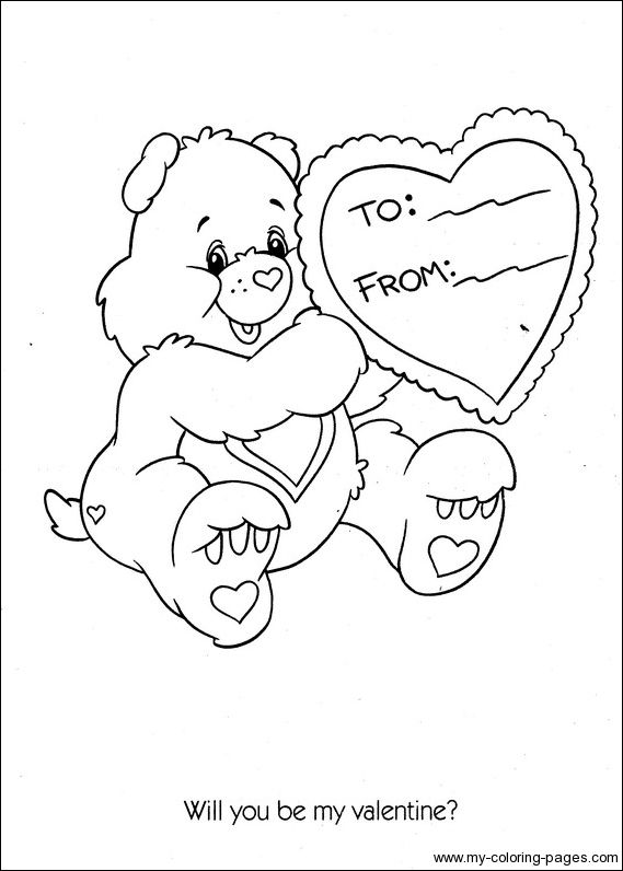 Care Bears Coloring Pages Bear Coloring Pages Coloring Pages Valentine Coloring Pages