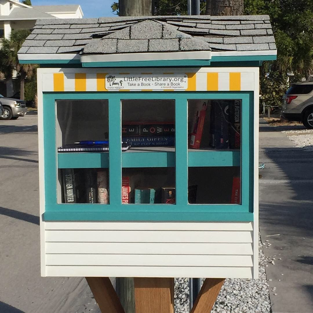What S Better Than A Book At The Beach This Cute Littlefreelibrary Is In St Pete Beach Fl Little Free Libraries Little Library Free Library