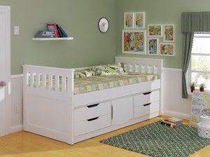 Sleepland White Captains Bed With Storage Bed Storage Drawers Bed Storage Cabin Bed With Storage
