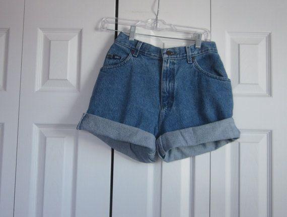 7bc252e7fd Vintage Lee High Waisted Denim Shorts Cut Off by GroovyGirlGarb, $28.00  #HighWaistedShorts #HipsterShorts