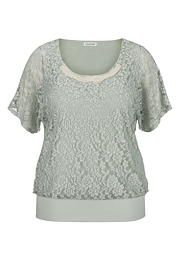 Faux pearl embellished lace plus size dolman top - maurices.com